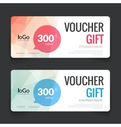 Gift voucher market offer template layout with vector