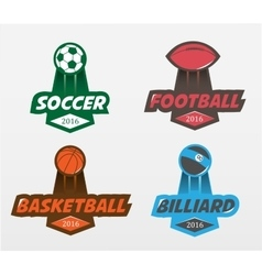 Set of soccer football basketball billiards vector