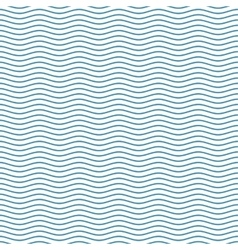 Blue seamless wavy line pattern vector