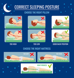 Best and worst sleep positioning comfortable bed vector