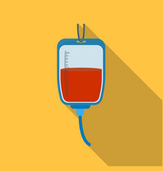 Blood donation icon in flate style isolated on vector