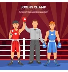 Boxing champ composition vector