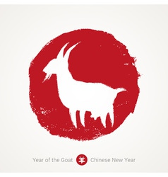 Chinese lunar year of the goat vector