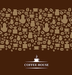 Coffee horizontal brown vector