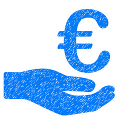 Euro donation grunge icon vector