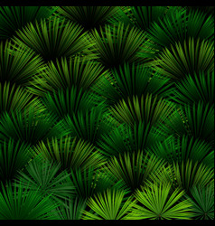 exotic pattern with tropical leaves on a black bac vector image