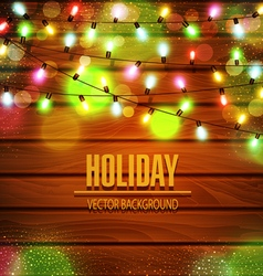festive background of luminous garlands of lights vector image vector image