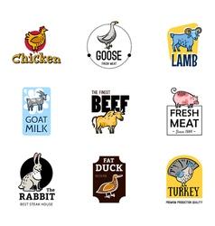 Food logos set vector