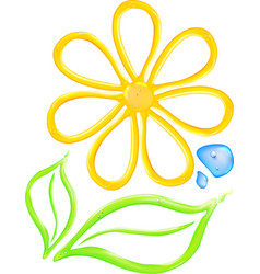 Gel flower icon vector
