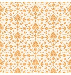 Golden floral damask seamless pattern background vector image