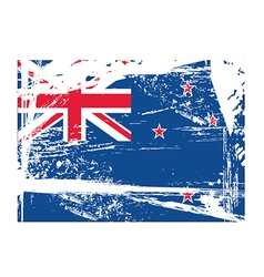 Grunge flag vector image vector image