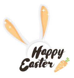 happy easter holiday greeting card vector image vector image