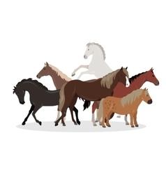 Horse conceptual flat style web banner vector