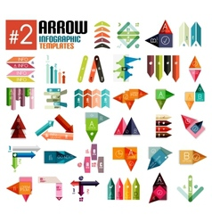 Huge set of arrow infographic templates 2 vector image