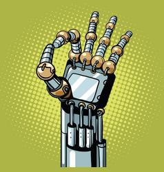 Robot ok okay gesture hand vector
