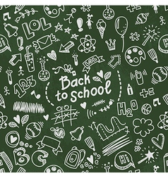 School seamless doodle pattern vector