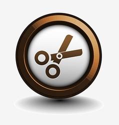 scissors web icon vector image