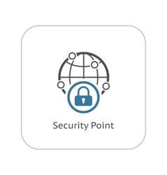 Security Point Icon Flat Design vector image vector image
