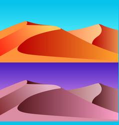 set of desert landscape vector image