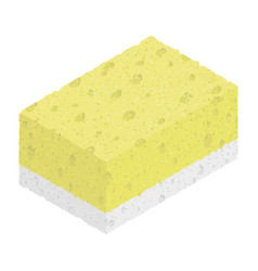sponge isolated on white background isometric vector image vector image