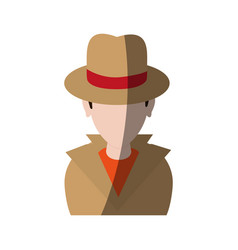 Spy or investigator avatar icon image vector