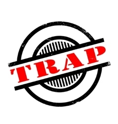 Trap rubber stamp vector