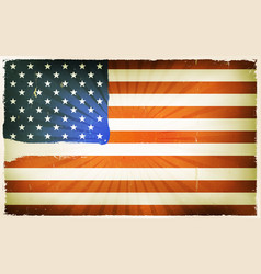 Vintage american flag poster background vector