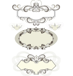 Vintage frame decorated with crown vector