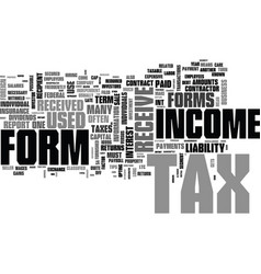 Which tax forms concern you text word cloud vector