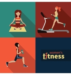 women fitness vector image vector image