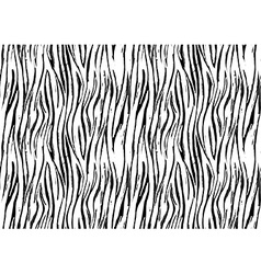Zebra print seamless background pattern Black and vector image