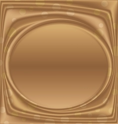Gold metal picture frame ellipse horizontally vector