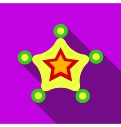 Christmas star icon flat style vector image