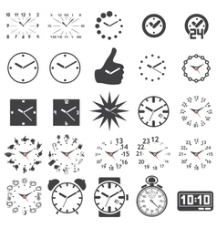 Set of watch icons vector