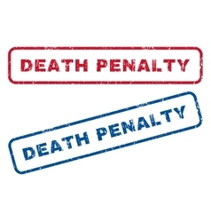 Death penalty rubber stamps vector