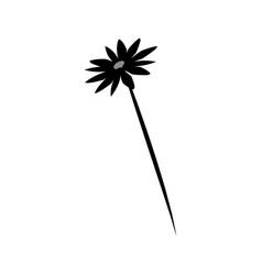 Decorative flower silhouette flora natural garden vector