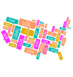 America made out of text messages vector