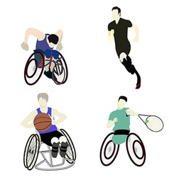 Disabled man sport vector