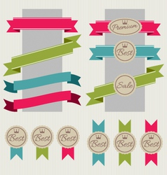Set of stickers ribbons and banners vector