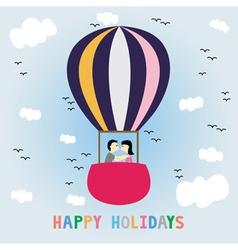Happy holidays7 vector image
