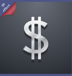 Dollars icon symbol 3d style trendy modern design vector
