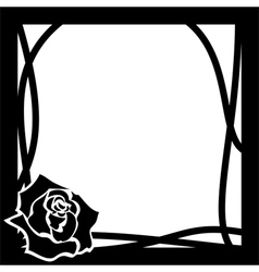 frame whith rose vector image