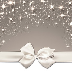 Christmas beige starry background vector