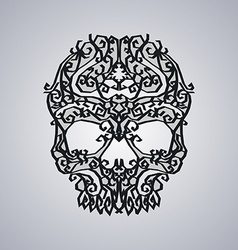 Ornament skull art vector