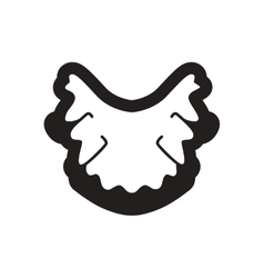 Stylish black and white icon nerves in gums vector