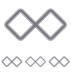 Grey infinite loop logo design set vector