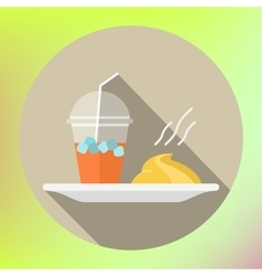 Smoothie mashed potatoes flat icon vector