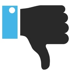 Thumb down flat pictogram vector