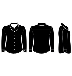 Blank shirt with long sleeves template vector image vector image