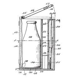 Bottled milk vintage vector